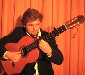Gitarist akoestische gitaar