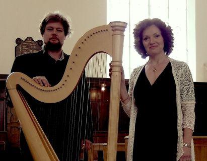 Harp met Sopraan Zangeres