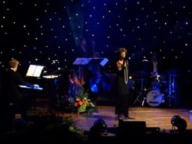 Jazz-zangeres en Band